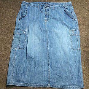 Venezia Denim Jean Skirt Size 26 Long